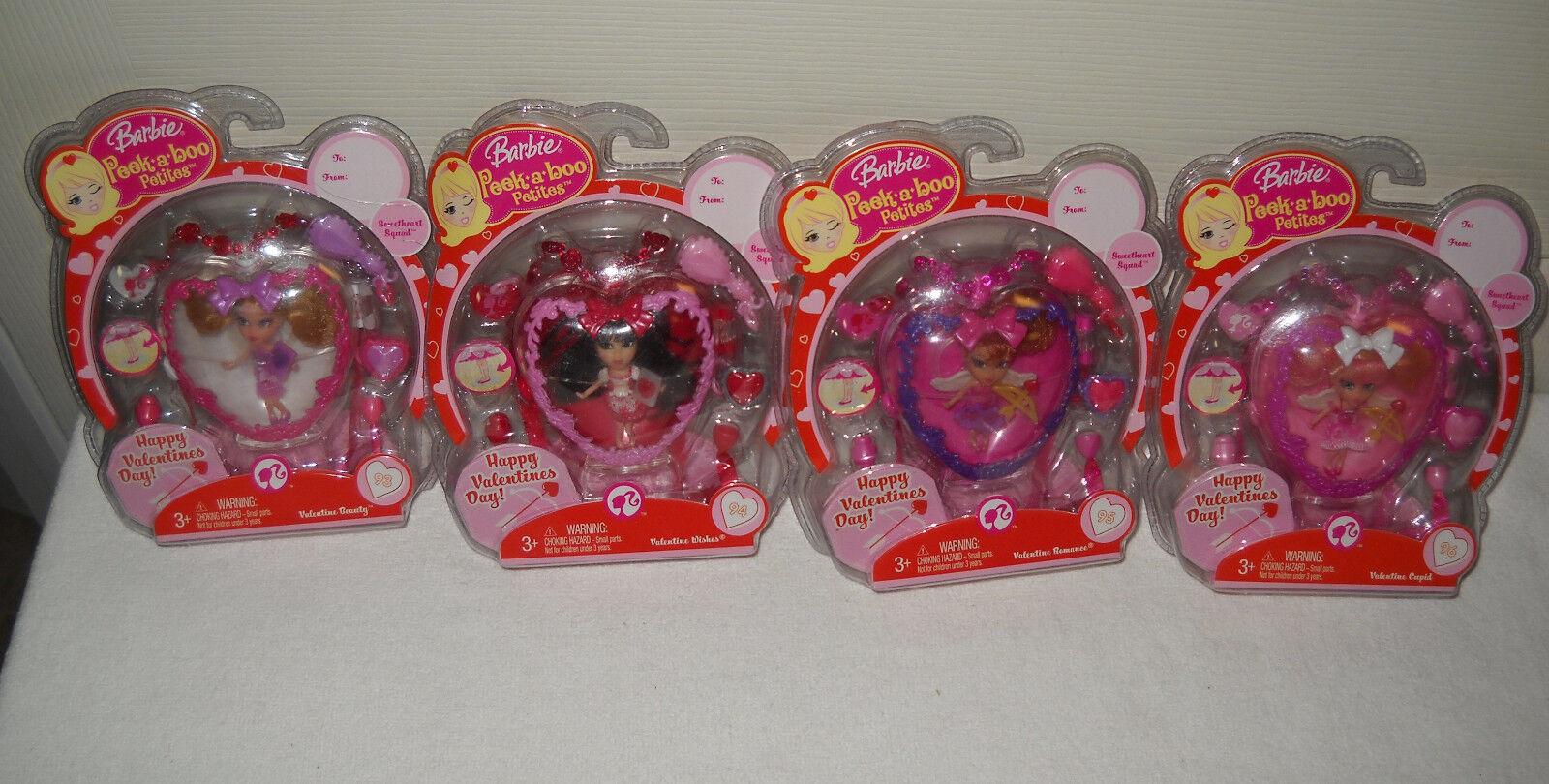 Nunca quitado de la Caja Mattel Peek A Boo Petites feliz día de San Valentín conjunto de 4 muñecas