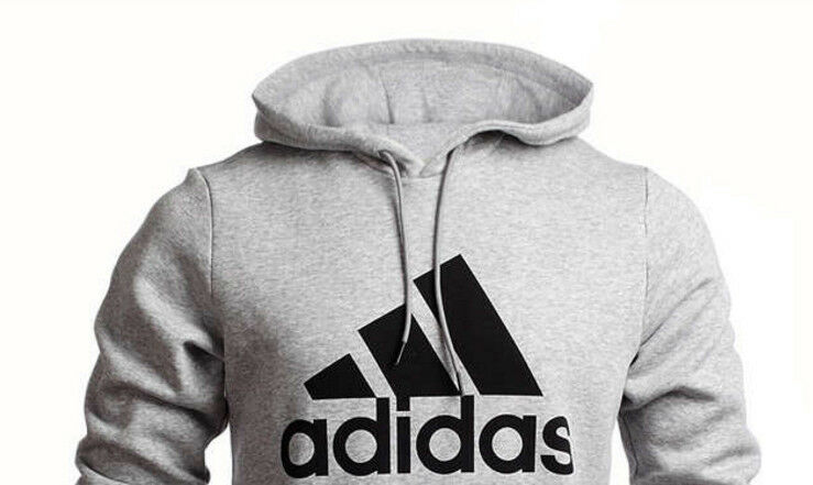 ADIDAS Essentials Herren Hoody Hoody Hoody Kapuzenpullover Sweatshirt Baumwolle grau    eine große Vielfalt  923d7a