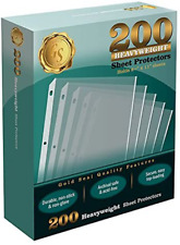 200box Clear Heavyweight Poly Sheet Protectors By Gold Seal 85 X 11