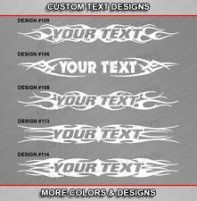 Fits MAZDA 3 Custom Windshield Tribal Flame Design Decal Vinyl Graphic Sticker