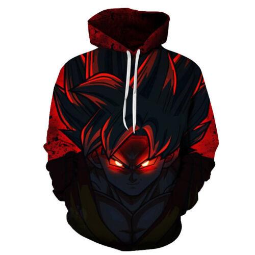 Anime Dragon Ball Z Goku Men Print 3D Sweatshirt Pullover Hoodie Casual Jacket
