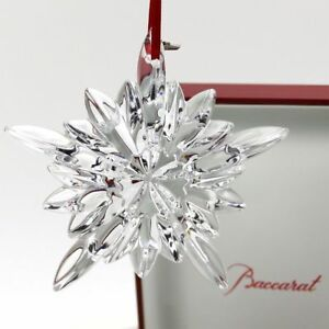 Baccarat Clear Crystal 2013 Courcheval Christmas Ornament ...