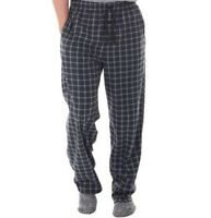 2xl Mens Fleece Sleep Pants Fruit Of The Loom Lounge Pajama Xxl 44 46 Plaid Warm