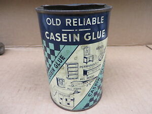 OLD-RELIABLE-CASEIN-GLUE-VINTAGE-TIN-CAN-NOVELTY-PIECE