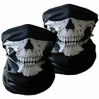 Motorcycle Half Face Skull Mask 2-Pack Riding Outdoors Cover Bandana Protect