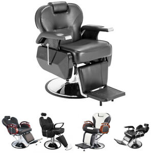 Pleasant Details About Swivel Salon Barber Chairs Hydraulic Recline Beauty Hairdressing Seat Steel Base Download Free Architecture Designs Remcamadebymaigaardcom