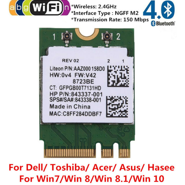 RTL8723BE NGFF/M 2 Wlan Wifi + Bluetooth 4 0 Card 802 11b/g/n for Dell Acer  Asus