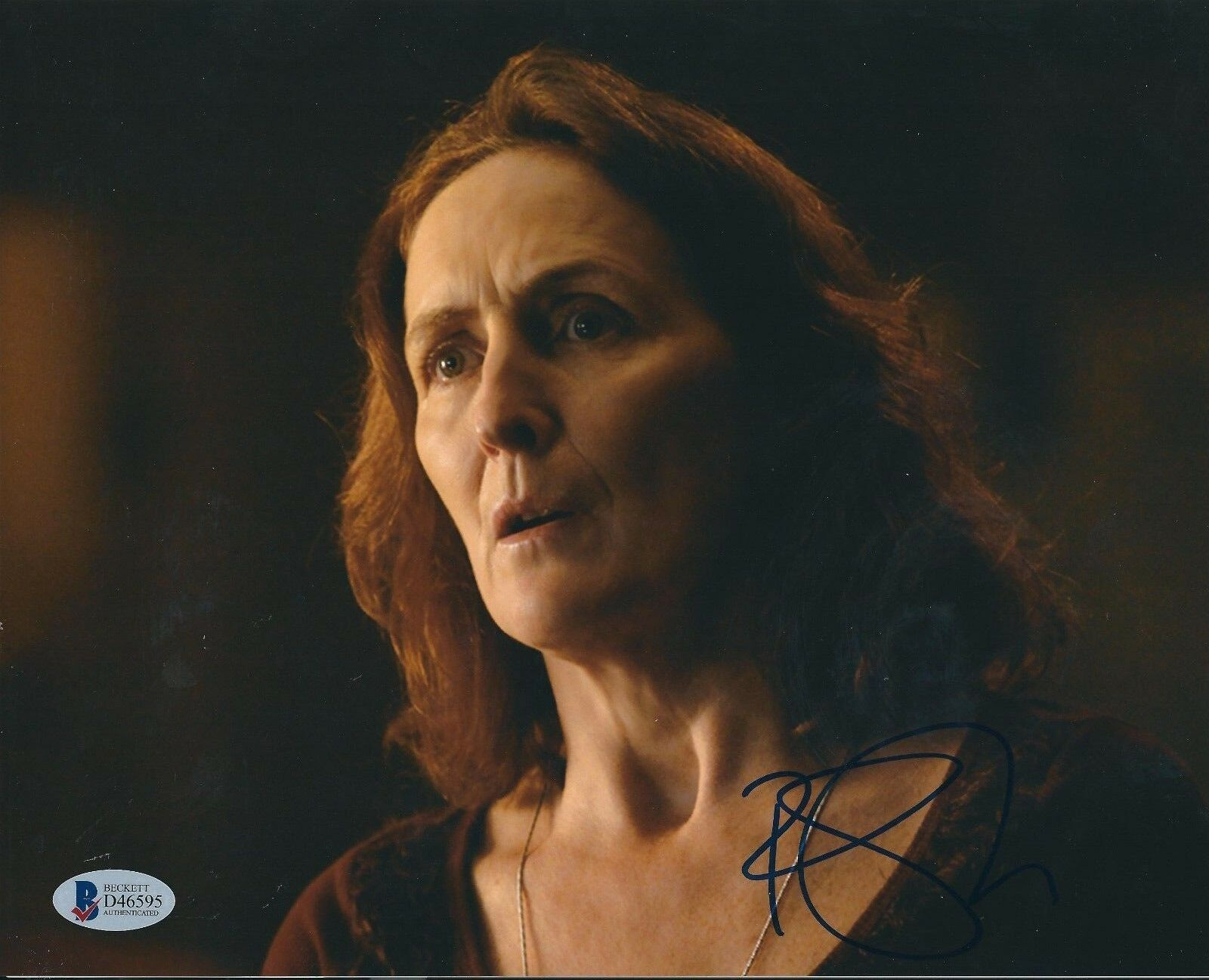 Fiona Shaw Signed 8x10 Photo *Harry Potter *Fracture *The Avengers BAS D46595
