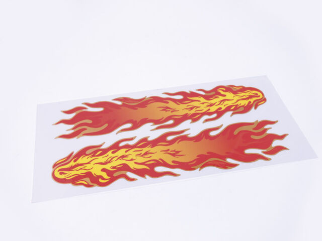 2Pc Flame Effect Vinyl DEcal Stickers Pimp Your Bike,Scooter,Car,Van