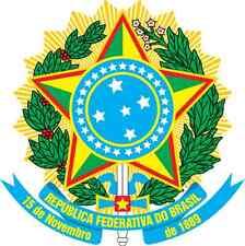 "Auto Aufkleber Wappen ""Brasilien"" Brazil Coat of arms Car Sticker"