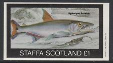 GB Locals - Staffa 3512 - 1982  FISH imperf souvenir sheet unmounted mint