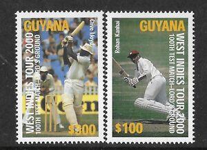 GUYANA-2000-LORD-039-S-CENTENARY-CRICKET-100th-TEST-MATCH-2v-MNH