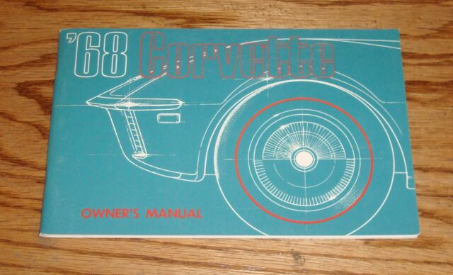 1968 Chevrolet Corvette Owners Operators Manual 68 Chevy