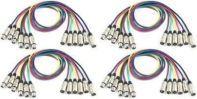 Musikinstrumente Tv, Video & Audio Trendmarkierung 4 Sets 1 M Adam Hall 3-star Mikrofonkabel Xlr Xlr In 6 Farben Dmx-kabel 3 Polig