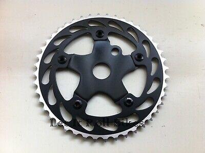 "BMX LightWeight Alloy Chainring Sprocket 44T x 1//8/""  All Black Bikes New"