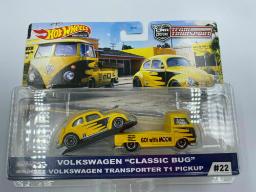 Hot Wheels Team Transport Premium Car Culture Volkswagen Classic Bug #22 GTJ42