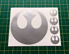 Stickers Decals Star Wars Alliance Rebel SILVER fit Cars Bus Lorry Tablets Wall