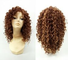 Pre-Trimmed Lace Front Auburn Red Mix Long Spiral Curly Heat Resistant Wig 14""