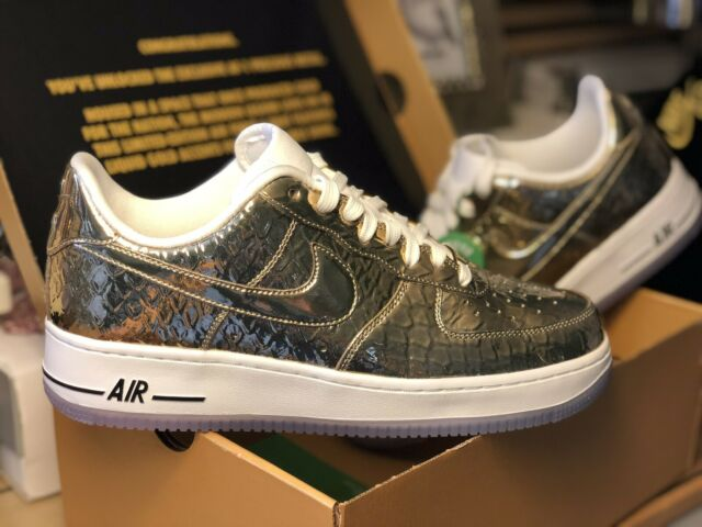 Nike Air Force 1 Precious Metal Gold Pro Bowl Clot Stash Supreme Limited #5682