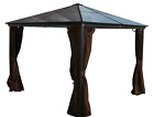 7mm Polycarbonate Hard Top Gazebo Casa - 10x10 with Mosquito Netting Included