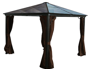 7mm-Polycarbonate-Roof-Gazebo-Casa-10x10-with-Mosquito-Netting-Included