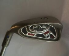 Left Handed Ping G15 Blue Dot 5 IRON   Ping AWT Regular Steel Shaft, Lamkin Grip