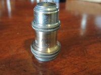 E.Leitz Wetzlar Oel Immersion 1/12 Apert. 1.30 Microscope Objective Lens Brass