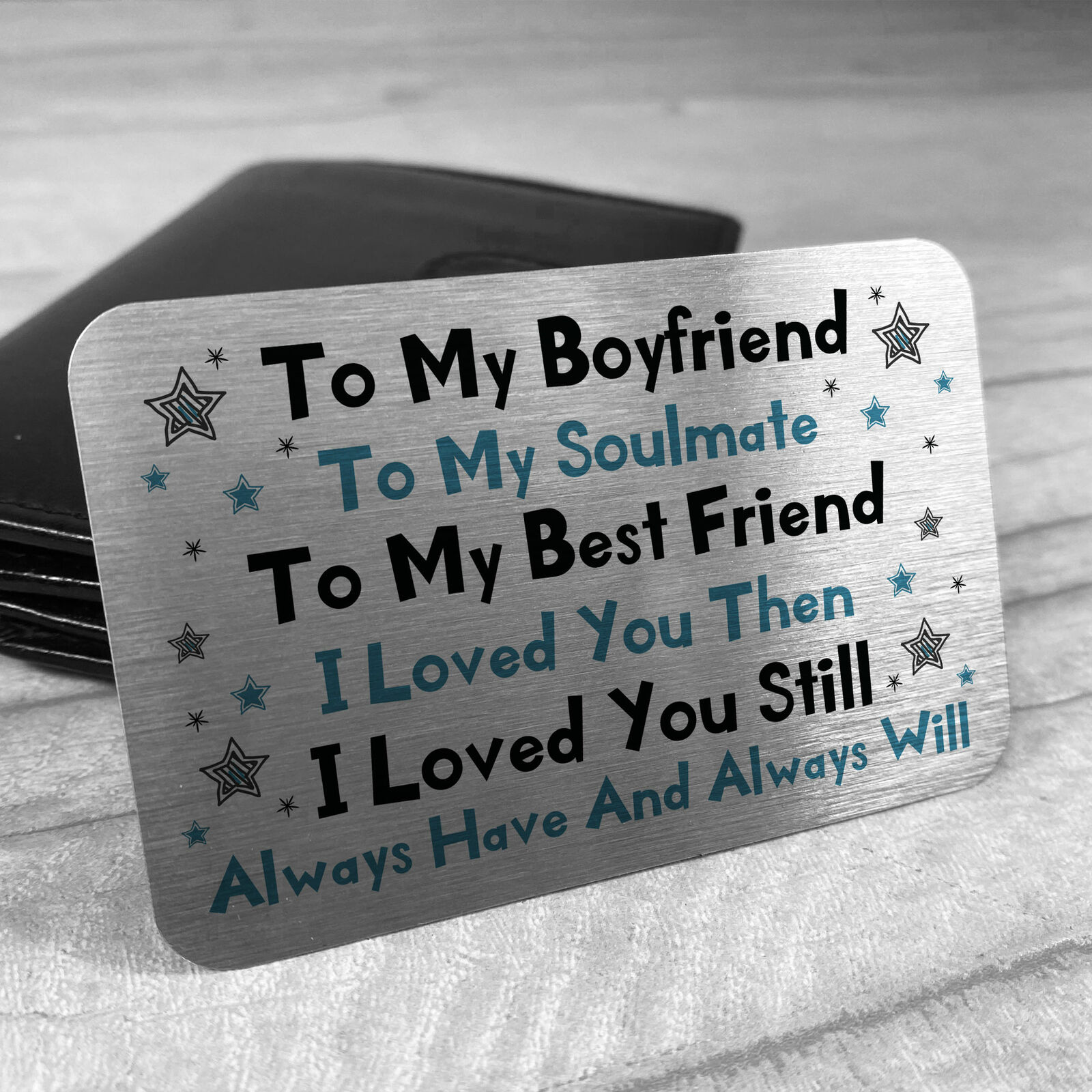 Valentines Day Gift For Boyfriend Novelty METAL Card For Wallet Gifts For Him