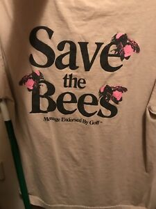 78c163a335d2 Golf Wang Tyler The Creator  SAVE THE BEES Men s Shirt - Sand- L