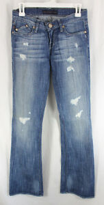 Rock-Republic-Jeans-Indigo-Denim-Womens-Size-0-25-Boot-Cut-Low-Rise-Sample-2009