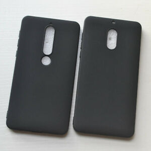 best service 63a44 64d49 Details about For Nokia 6 Nokia 6.1 X6 6.1plus 7Plus Black Slim Matte  Silicone Case Cover
