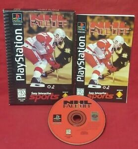 NHL-Face-Off-Hockey-Playstation-1-2-PS1-PS2-Game-Complete-Works-Long-Box-FACEOFF
