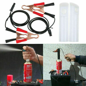 Details about Vehicle Fuel Injector Flush Cleaner Adapter DIY Kit Cleaning  Tool with 2 Nozzle