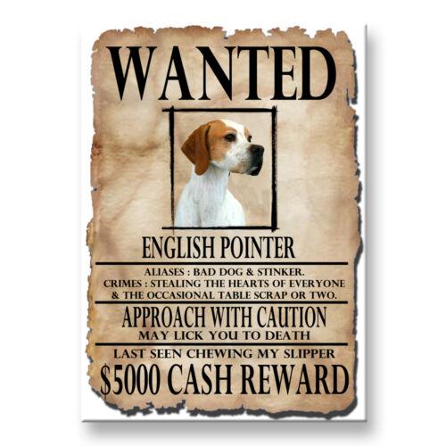 ENGLISH POINTER Wanted Poster FRIDGE MAGNET No 2 DOG