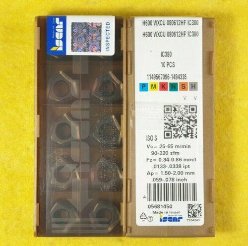 Iscar H600 WXCU 080612HP IC380; 10 inserts//box