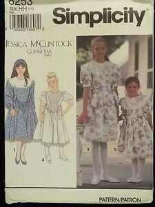 c0d37acef9ff Amazing OOP SIMPLICITY Gunne Sax 8253 Girls Dress PATTERN 3-4-5-6 UC ...
