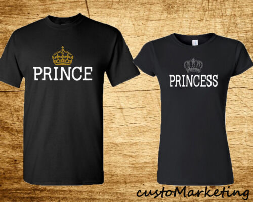 Couple Matching T Shirts Prince and Princess Matching Love Tees Valentines S-3XL