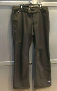 """WHITE SIERRA Womens Fleece Lined Snow Hiking Pants Size L 31"""" Inseam Black"""