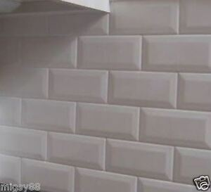 Image Is Loading Wall Tiles Gloss White Bevel Subway Tile 200x100mm