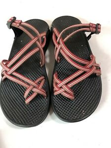 Chaco Red Sandals Slip Slide On Strappy