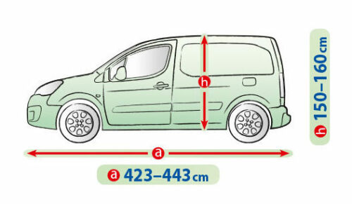 Heavy Duty Car Cover for Opel Combo C Van Breathable UV snow protection