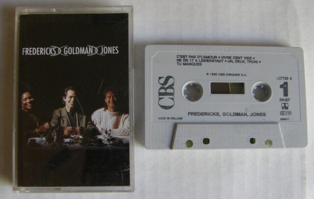 JEAN JACQUES GOLDMAN (K7 AUDIO) FREDERICKS GOLDMAN JONES