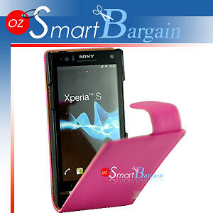 Premium-PINK-Flip-Leather-Case-Cover-for-Sony-Ericsson-Xperia-S-LT26i-SP