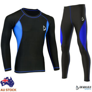 Mens-Compression-Base-Layer-Tights-Pants-Shirt-Skin-Tight-Yoga-Fitness-Rashie