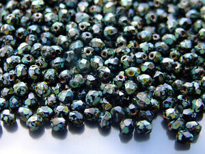 1200-Fire-Polished-Beads-4mm-Jet-Picasso-WHOLESALE