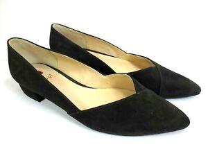 buy popular a9c87 c1fdc Details zu HÖGL Ballerinas Leder Schuhe Pumps grau anthrazit NEU UVP 109,95