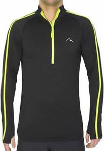 More-Mile-Mens-Running-Top-Long-Sleeve-Half-Zip-T-Shirt-Small-Medium-Large-XL