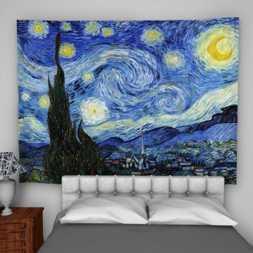 Van Gogh Tranquility Wall Hanging Tapestry Psychedelic Bedroom Home Decoration