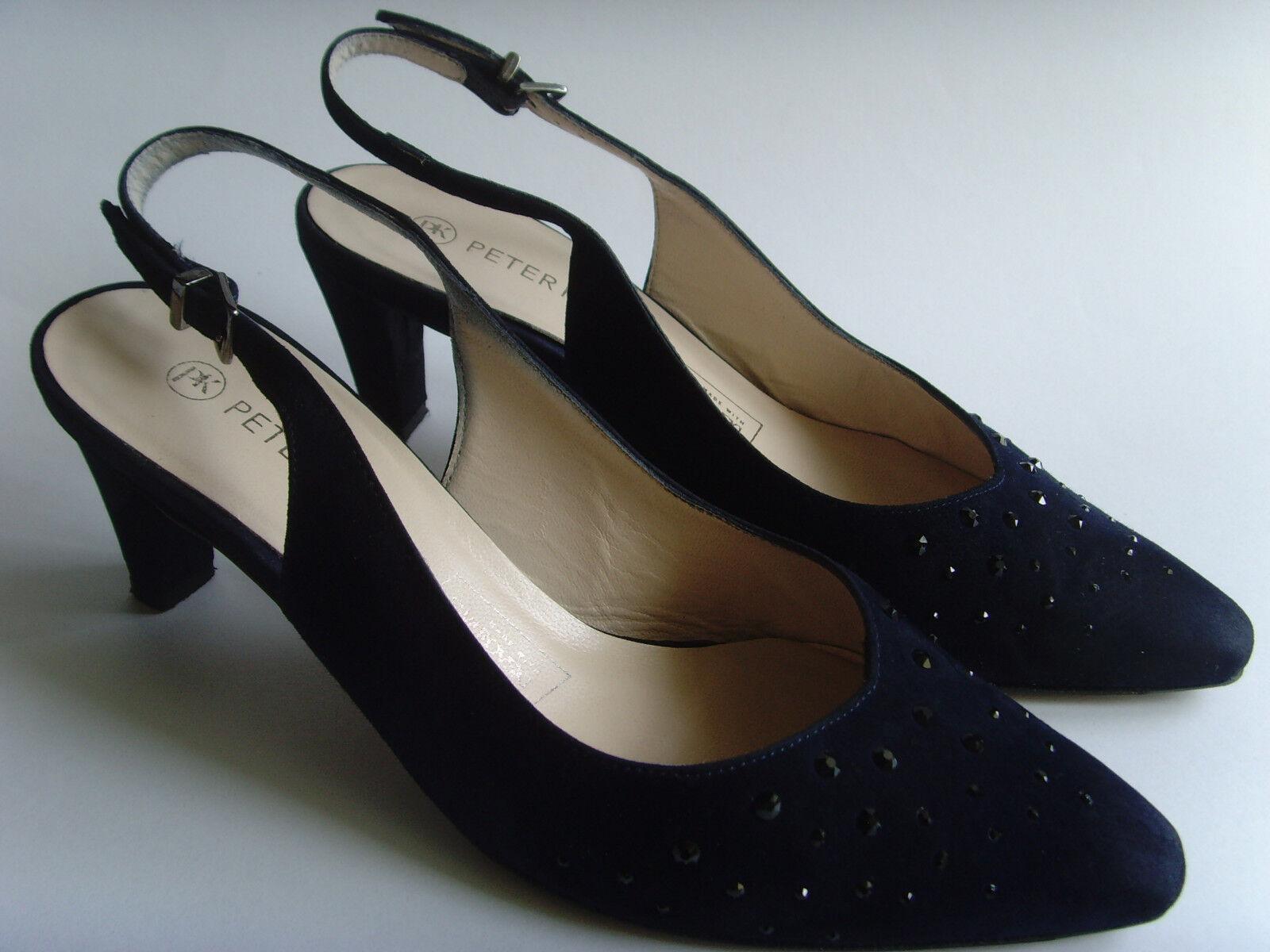 Details zu PASTELLE Stiefel Stiefeletten mit Absätze Leder petrolblau T 36 BE