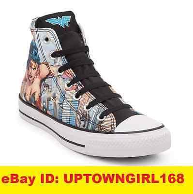3e2b1550cb02 Converse Chuck Taylor All Star Hi Shoes 154900C DC Comic Wonder Woman US Sz  6-